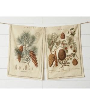 Winter Botanical Tea Towels