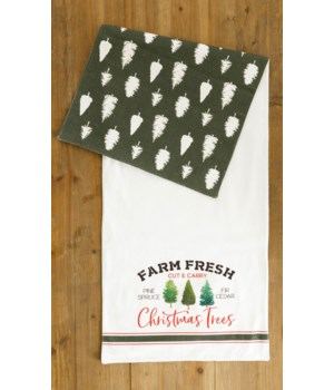 Reversible Table Runner - Farm Fresh Christmas Trees