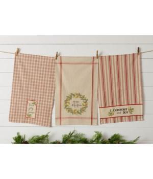Comfort And Joy Grainsack Tea Towels