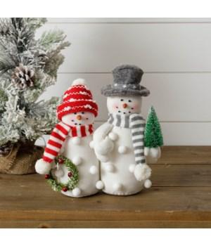 Pom Pom Snowman Couple