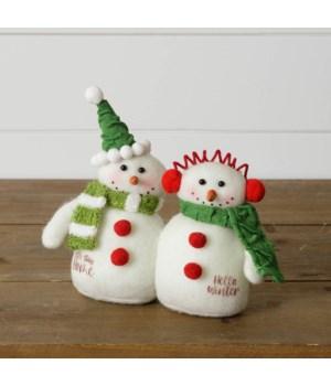 Snowmen Couple- Hello Winter