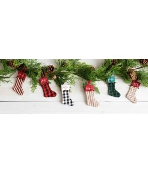 Assorted Mini Stocking Ornaments