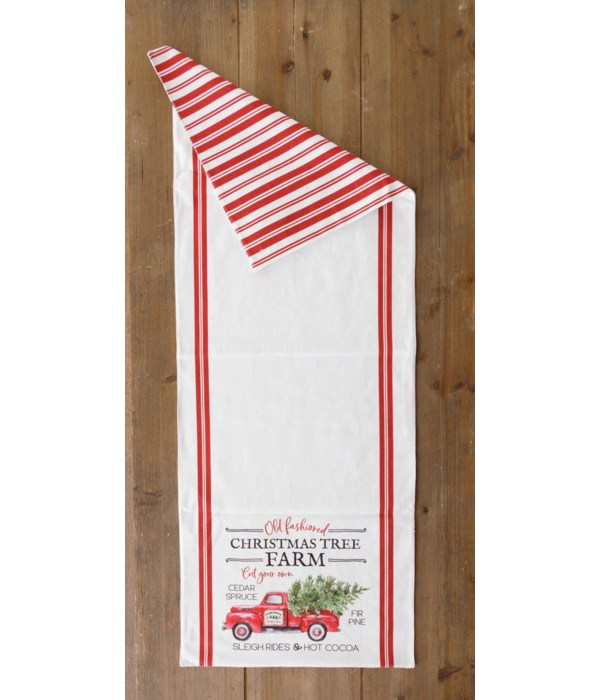 Two-Sided Table Runner - Christmas Tree Farm