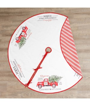 Two-Sided Christmas Tree Skirt - Christmas Tree Farm