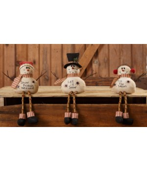 Snow Family With Button Legs - Let It Snow, Snow Friends