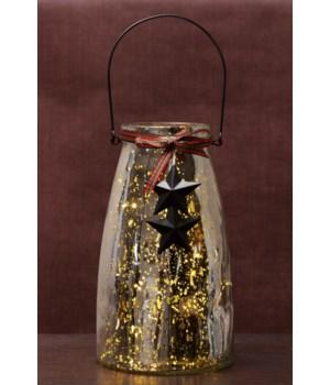 Clear Mercury Glass W/10 Bulb Light String