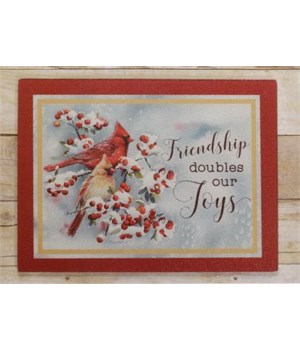 Cutting Board - Friendship Doubles Our Joys