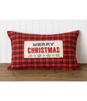 Embroidered Pillow - Merry Christmas