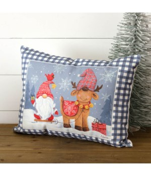 Gnome And Deer Pillow