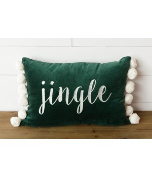 Jingle Velvet Pom Pom Pillow