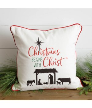 Pillow - Christmas Begins With Christ
