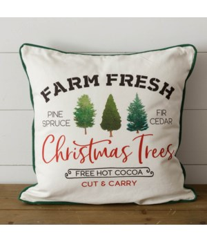 Two-Sided Pillow - Farm Fresh Christmas Trees
