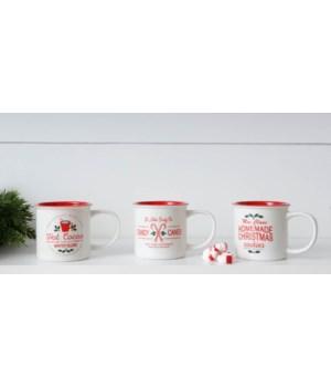 Holly Berry Inn Assorted Mugs, 12 oz