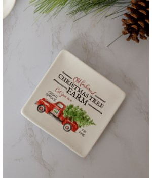 Christmas Tree Farm Appetizer Plate