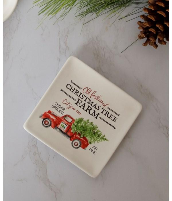 Christmas Tree Farm Appetizer Plate