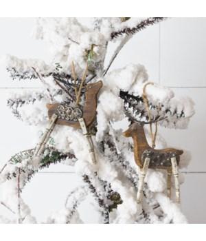 Ornaments - Faux Wooden Deer