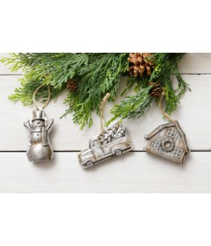 Ornaments - Molds - Snowman, Truck, Barn
