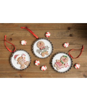 Ornaments - Gingerbread In Tart Pan
