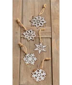 Ornaments - Metal Snowflakes