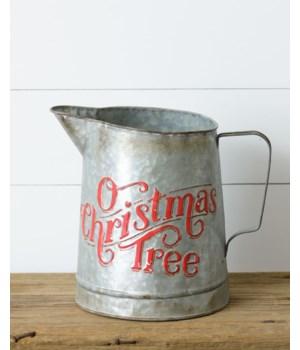 Tin Pitcher - O Christmas Tree