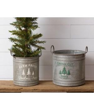 Tin - Buckets, Galvanized
