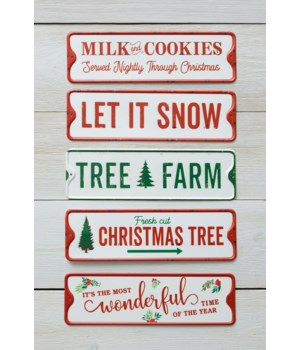 Metal Signs - Christmas Sayings