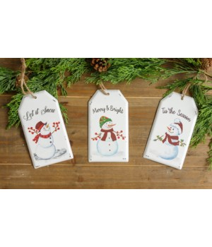 Snowman Tag Ornaments