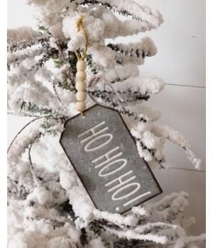 Ornaments - Galvanized - Believe, Happy, Ho Ho Ho
