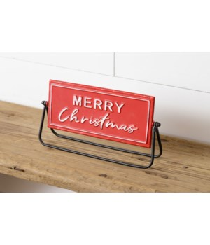 Two-Sided Metal Sign - Merry Christmas, Gather