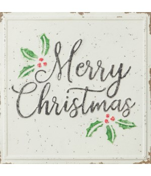Embossed Sign - Merry Christmas