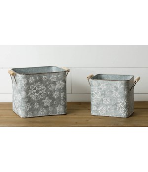 Embossed Snowflake Buckets