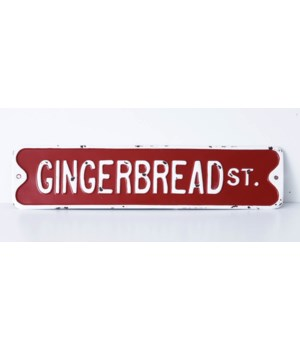 Gingerbread St. Sign