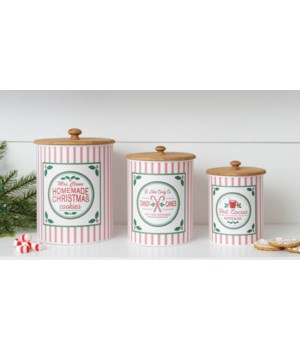 Canisters - Cookies, Candy Canes, Cocoa
