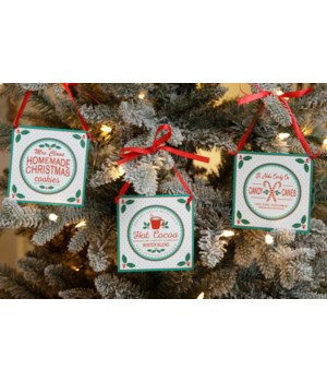 Ornaments - Cookies, Candy Canes, Cocoa
