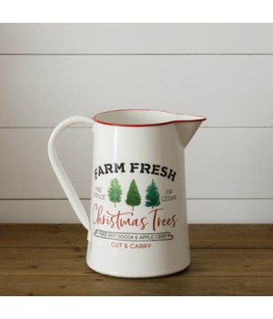 Farm Fresh Christmas Trees Pitcher