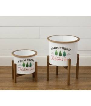 Farm Fresh Christmas Trees Planters