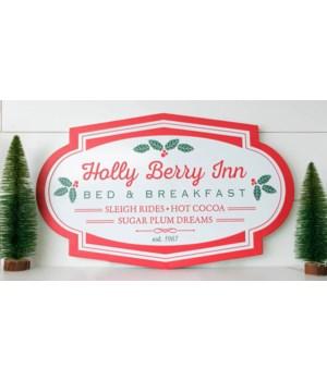 Embossed Sign - Holly Berry Inn