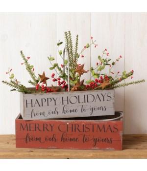 Nesting Bins - Merry Christmas, Happy Holidays