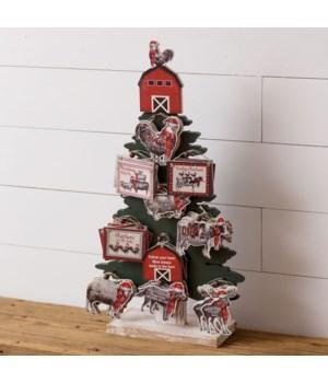 Tree Ornament Display - Farmhouse