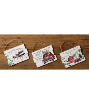 Hanging Signs - Truck, Tractor, Sleigh