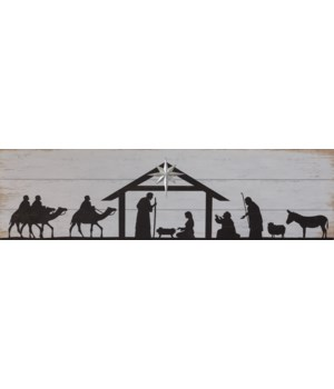 Sign - Nativity Silhouette