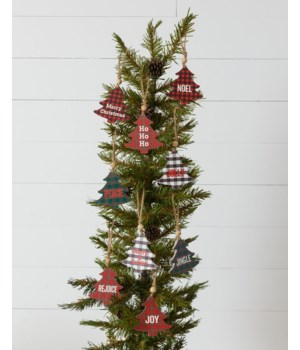 Ornaments - Plaid Trees With Expressions