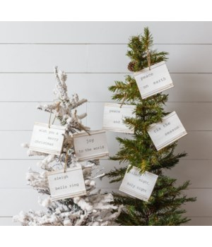 Ornaments - Beadboard, Winter Quotes