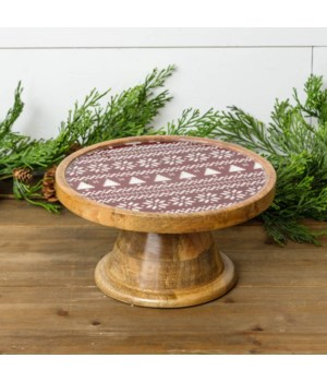 Fair Isle Mango Wood And Enamel Stand
