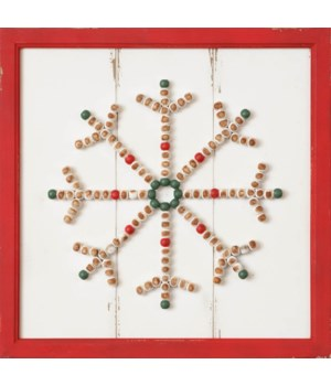 Sign - Beaded Snowflake