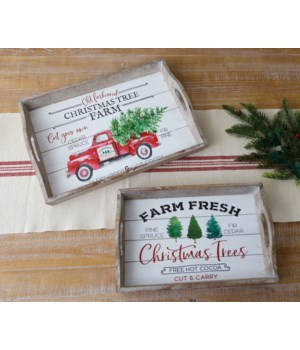 Christmas Tree Farm Trays