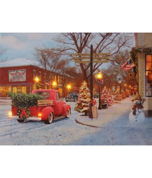 Canvas Sign - Town Scene