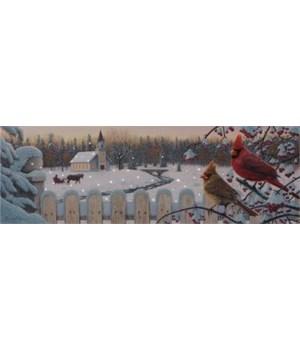 Led Canvas Print - Cardinals