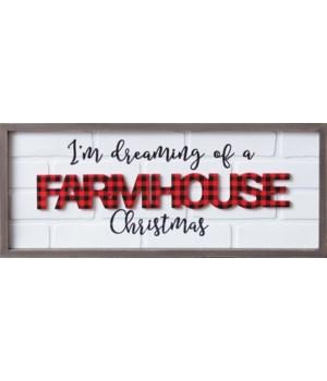 Sign - I'm Dreaming of a Farmhouse Christmas