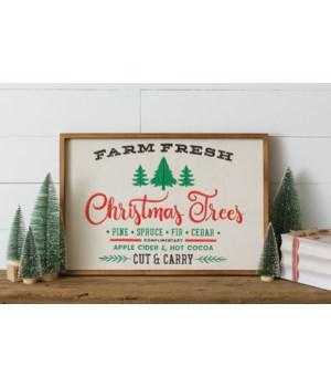 Embroidered Sign - Farm Fresh Christmas Trees